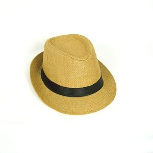 Accessories - Tan/Brown Hat with Black Stripe One Size Fits Most